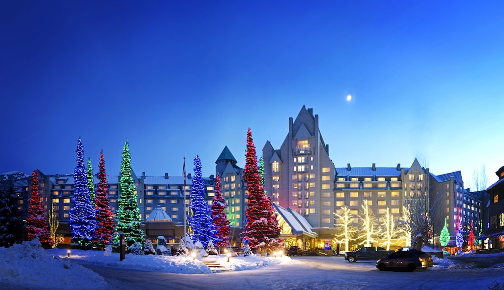 Front of Property - Evening/Night, The Fairmont Chateau Whistler
