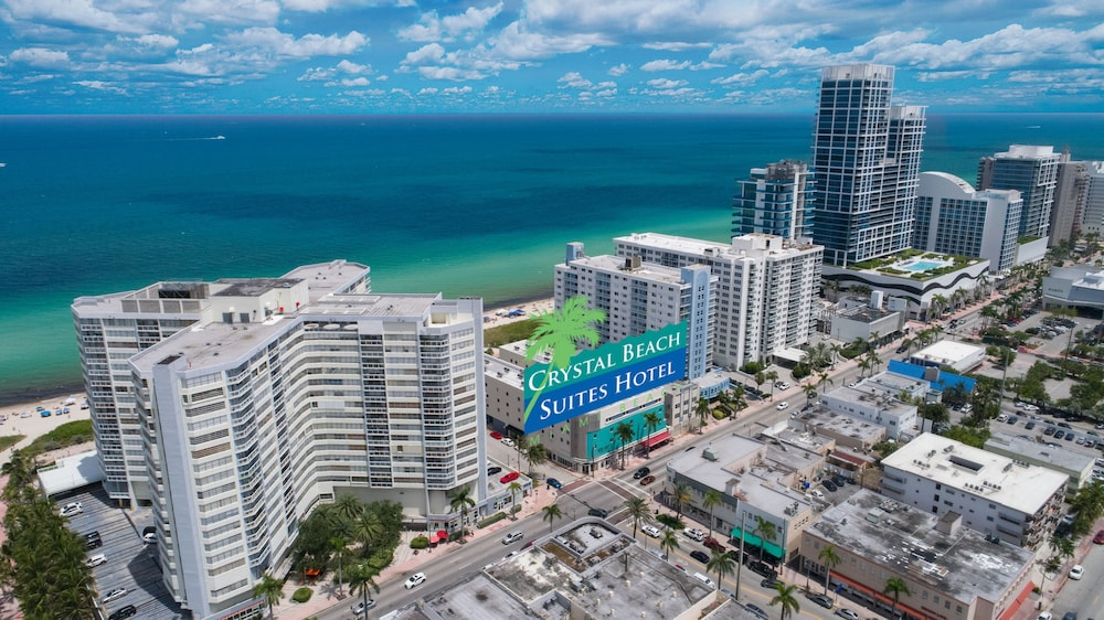 Aerial View, Crystal Beach Suites Oceanfront Hotel