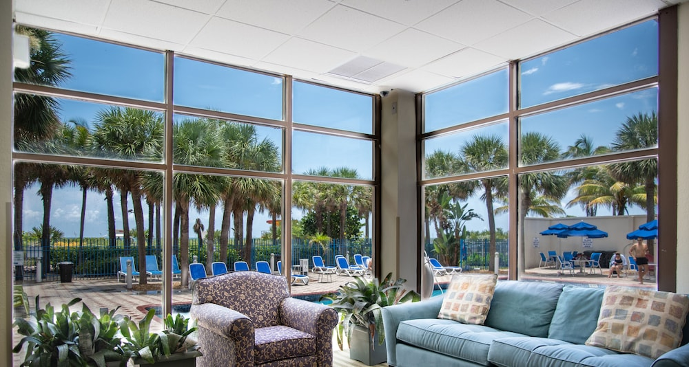 Lounge, Crystal Beach Suites Oceanfront Hotel