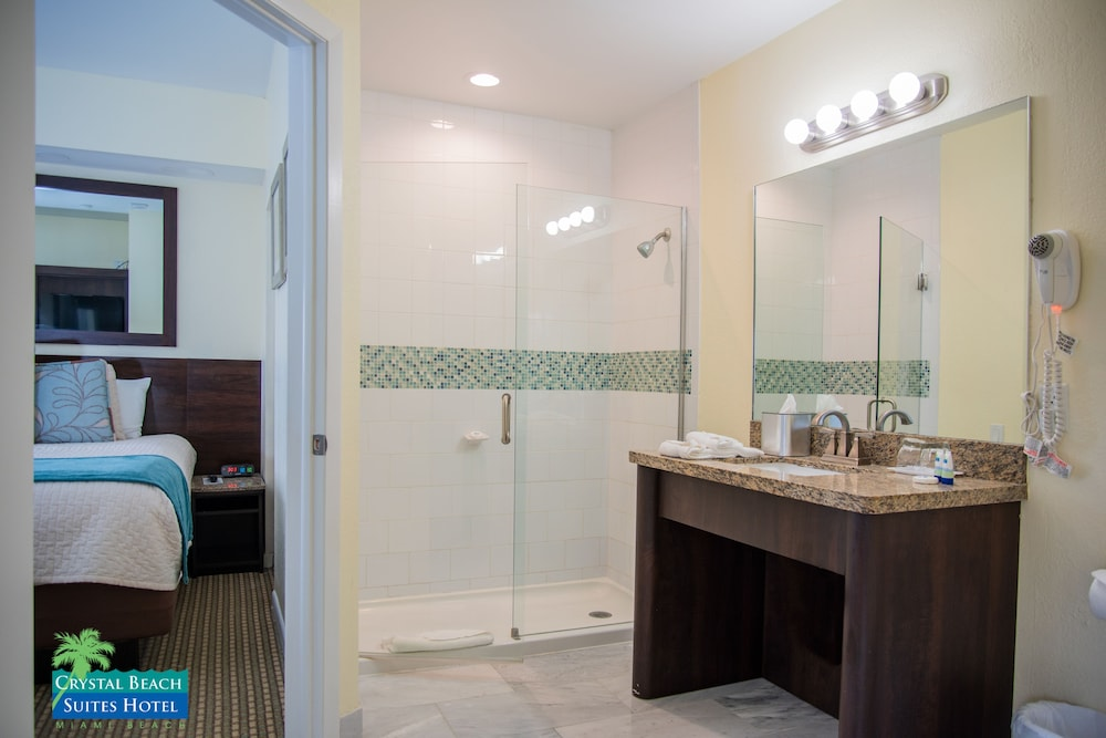 Bathroom, Crystal Beach Suites Oceanfront Hotel
