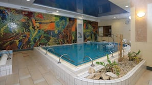 4 indoor pools, seasonal outdoor pool, pool umbrellas, sun loungers