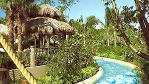 3 buitenzwembaden, zwembadcabana's (toeslag)