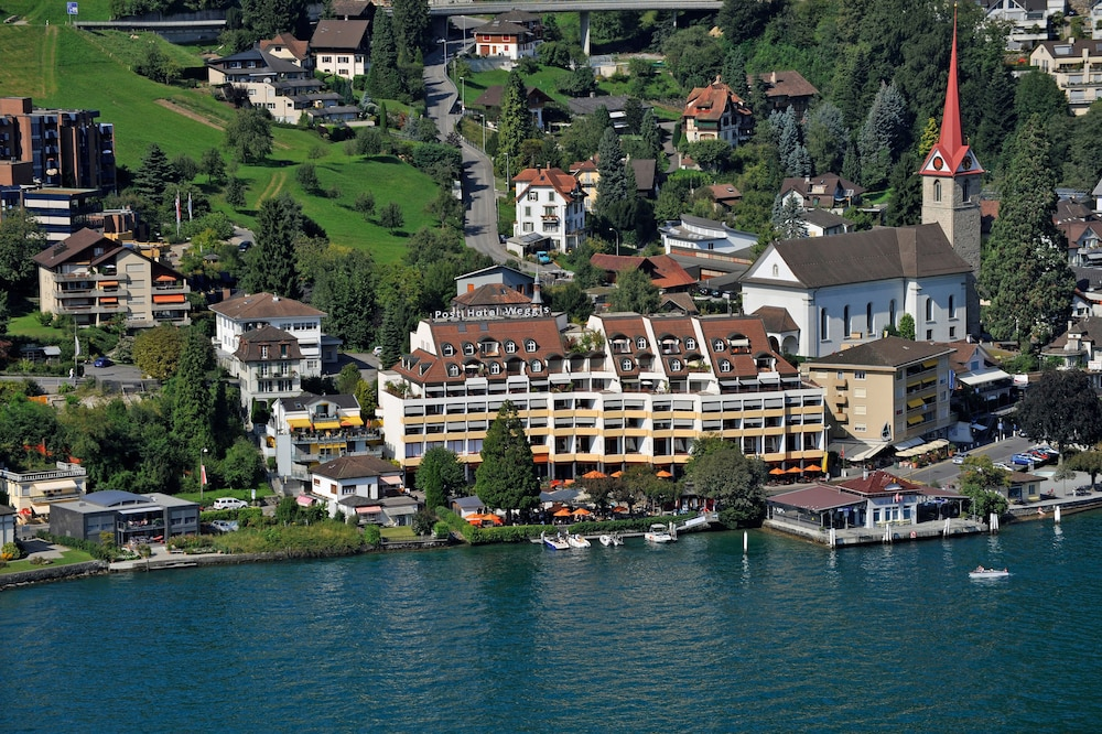 Aerial View, Post Hotel Weggis