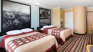 Premium bedding, desk, soundproofing, iron/ironing board
