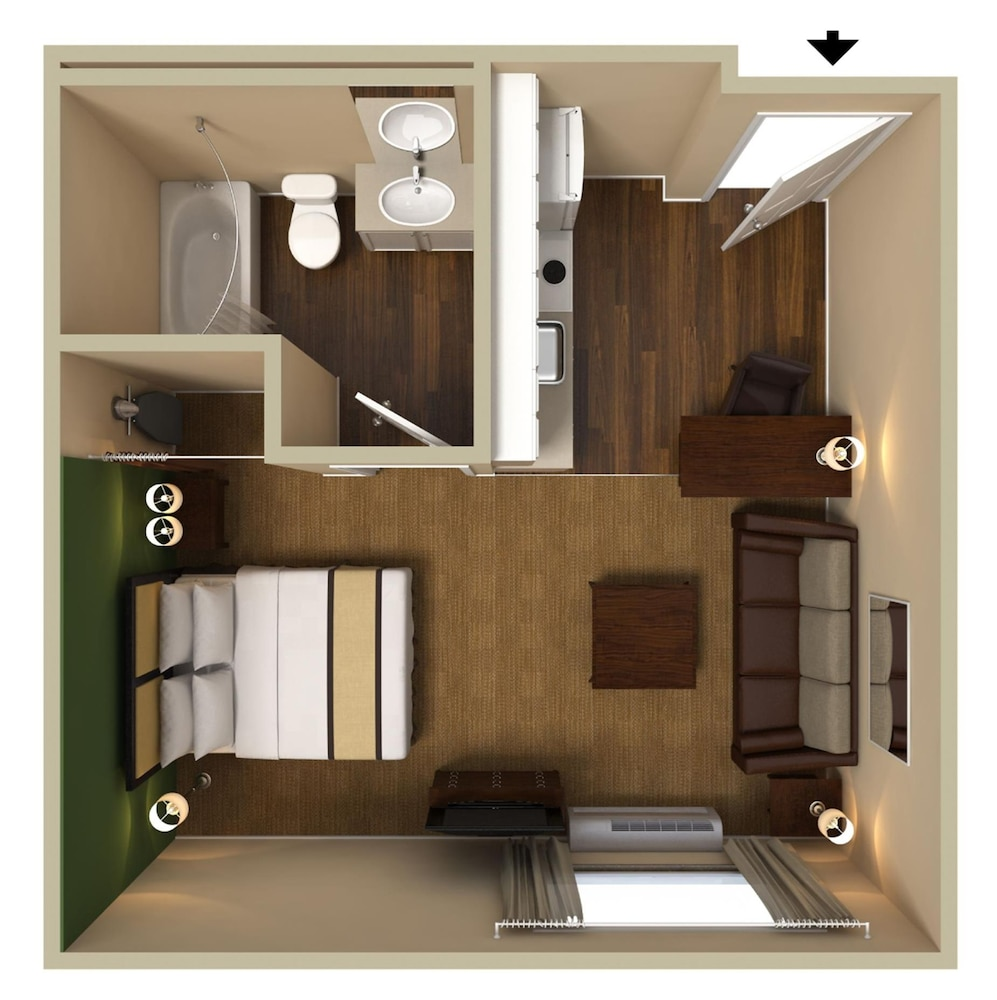 Floor plan, Extended Stay America - Boston - Westborough - Computer Dr.