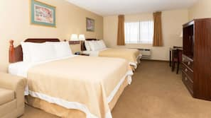 Cribs/infant beds, free WiFi, bed sheets, alarm clocks