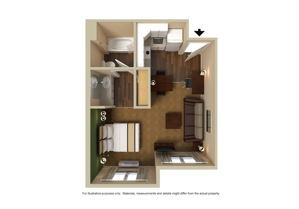 Floor plan, Extended Stay America - Cleveland - Airport - North Olmsted