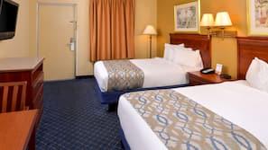 Pillowtop beds, desk, iron/ironing board, rollaway beds