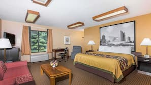 Desk, blackout drapes, cribs/infant beds, rollaway beds