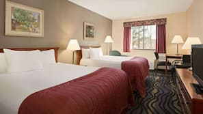 In-room safe, blackout drapes, iron/ironing board, free rollaway beds