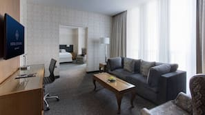 Egyptian cotton sheets, pillowtop beds, minibar, in-room safe