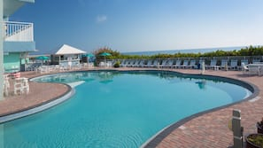 3 outdoor pools, open 8 AM to 10 PM, pool umbrellas, sun loungers