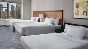 Premium bedding, pillow-top beds, in-room safe, desk
