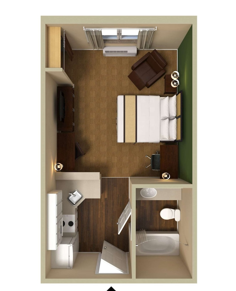 Floor plan, Extended Stay America Jacksonville - Camp Lejeune