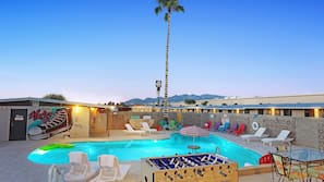 Outdoor pool, open 8:30 AM to 11:00 PM, free cabanas, pool umbrellas