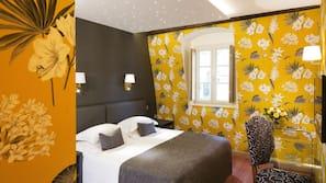 Pillowtop-Betten, Minibar, Zimmersafe, individuell dekoriert
