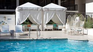 Outdoor pool, open 5:00 AM to 10:00 PM, pool umbrellas, pool loungers