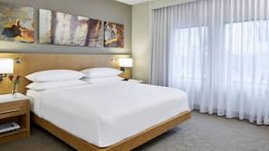 1 bedroom, hypo-allergenic bedding, pillowtop beds, in-room safe