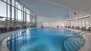 Indoor pool, pool cabanas (surcharge), pool loungers