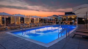 Seasonal outdoor pool, open 8:00 AM to 8:00 PM, pool cabanas (surcharge)