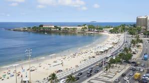 On the beach, free beach cabanas, sun loungers, beach umbrellas
