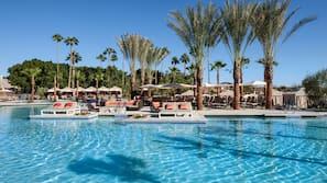 9 outdoor pools, pool cabanas (surcharge), pool umbrellas