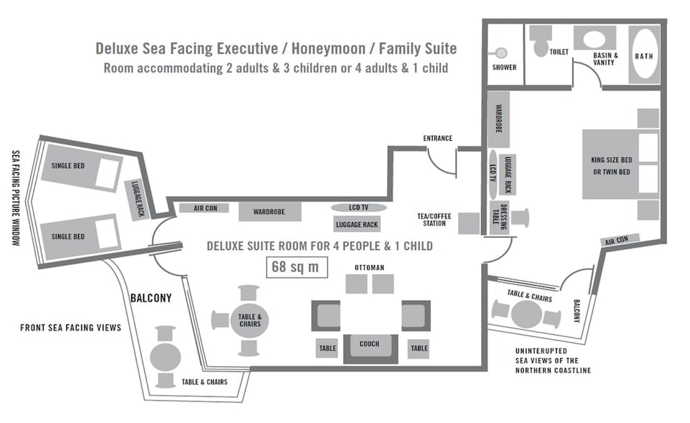 Floor plan, The Blue Waters Hotel