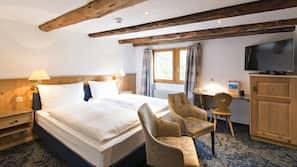 Premium bedding, down duvets, minibar, in-room safe