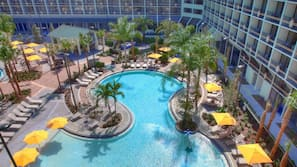 2 outdoor pools, open 7:00 AM to 11:00 PM, pool cabanas (surcharge)