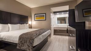 Cofres nos quartos, ferros/tábuas de passar roupa, Wi-Fi de cortesia