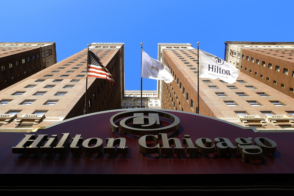 Exterior detail, Hilton Chicago