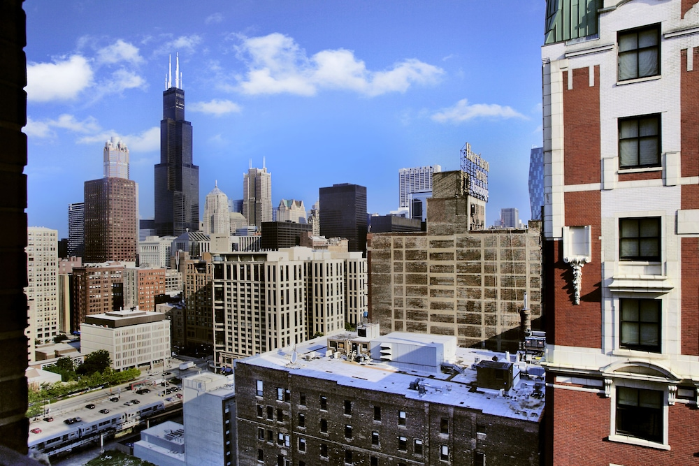 View from Room, Hilton Chicago