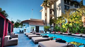 Outdoor pool, open 10:00 AM to 10:00 PM, cabanas (surcharge)