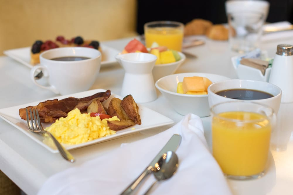 Breakfast buffet, Hyatt Regency New Orleans