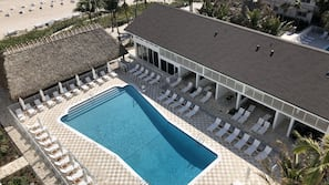 2 outdoor pools, open 8:00 AM to 7:30 PM, pool cabanas (surcharge)