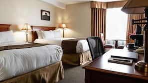 Pillowtop beds, in-room safe, individually furnished, laptop workspace