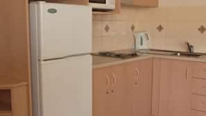Microwave, electric kettle, toaster, high chair
