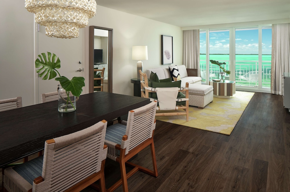 Living Area, Baker's Cay Resort Key Largo, Curio Collection by Hilton