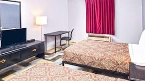 Iron/ironing board, bed sheets, alarm clocks