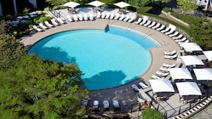 Indoor pool, outdoor pool, open 5:30 AM to 11:00 PM, free pool cabanas