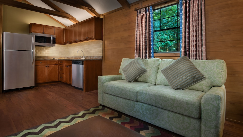 Living Area, The Cabins at Disney's Fort Wilderness Resort