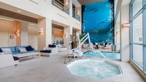 Indoor pool, outdoor pool, open 7:00 AM to 10:00 PM, sun loungers
