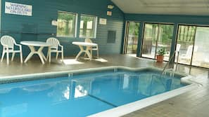 Indoor pool, open 6 AM to 10 PM, sun loungers