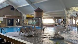 3 indoor pools, open 9:00 AM to 9:00 PM, pool umbrellas