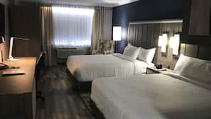 Desk, blackout curtains, iron/ironing board, free WiFi