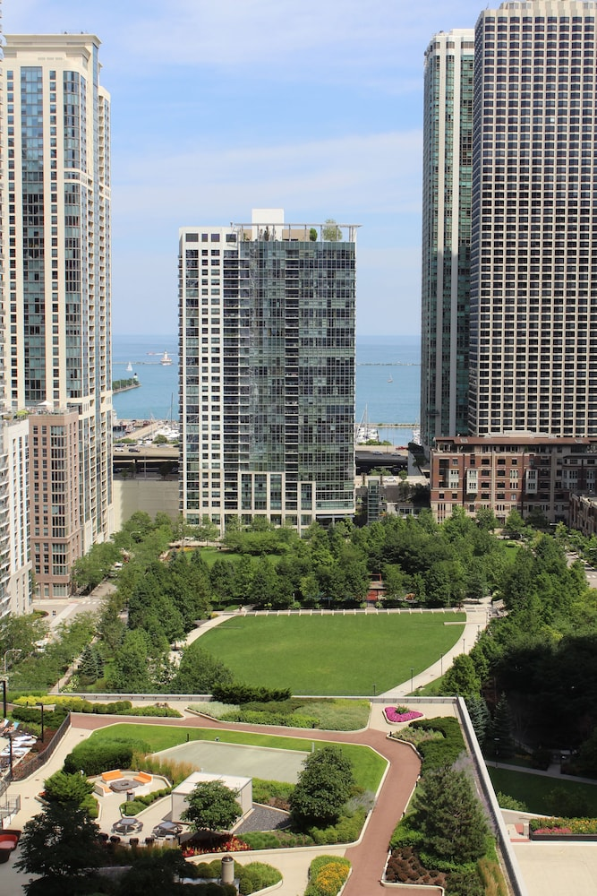 View from Room, Fairmont Chicago at Millennium Park