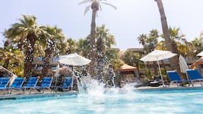 7 outdoor pools, cabanas (surcharge), pool umbrellas