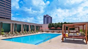 Outdoor pool, open 6:00 AM to 10:00 PM, pool cabanas (surcharge)