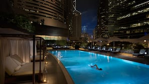 Outdoor pool, open 6:00 AM to 10:00 PM, free cabanas, pool umbrellas