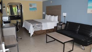 In-room safe, desk, iron/ironing board, free cribs/infant beds